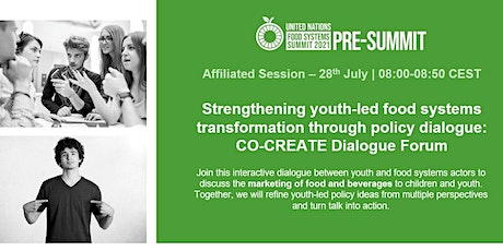 Strengthening youth-led food systems transformation through policy dialogue Tickets