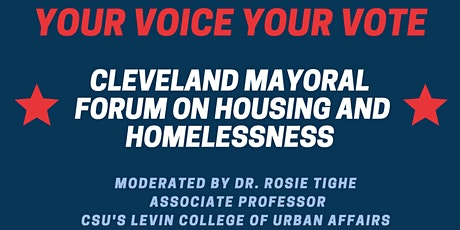 Cleveland Mayoral Forum on Housing and Homelessness tickets