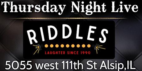 ROBERT KANE Thursday Night Live @Riddles tickets
