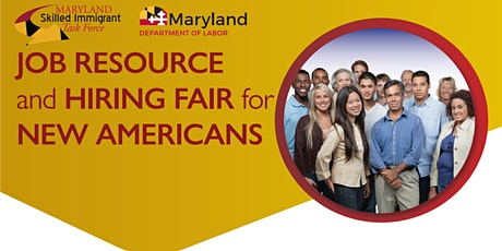 Job Resource and Hiring Fair for New Americans: Pre-Event Webinar tickets