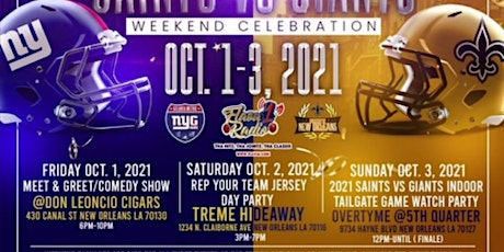 New York Giants & New Orleans Saints Party Weekend  - FRIDAY ONLY tickets