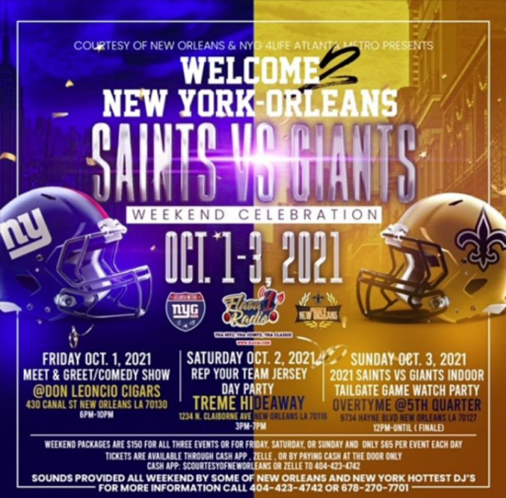New York Giants & New Orleans Saints Party Weekend Celebration image