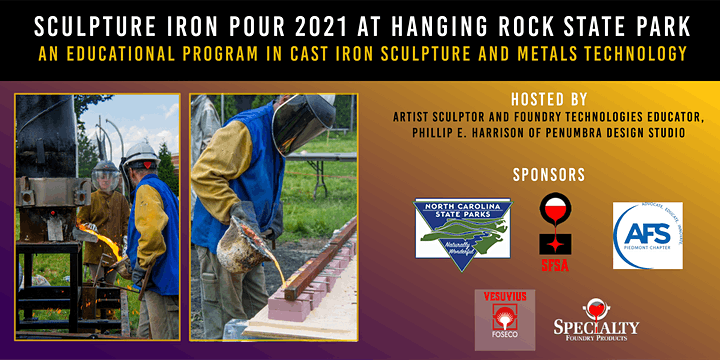 Sculpture Iron Pour 2021 at Hanging Rock State Park image