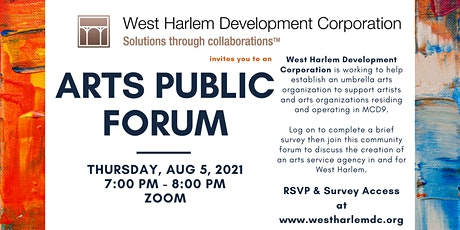 West Harlem Arts Public Forum by WHDC tickets