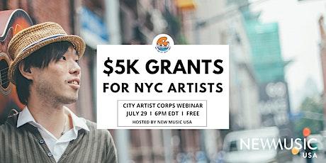 City Artist Corps Webinar #2 tickets