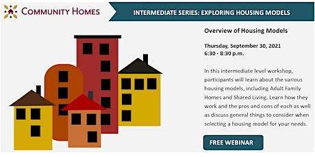 Overview of Housing Models 9/30/21 tickets