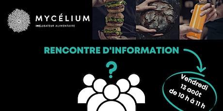 Rencontre d'information  du programme d'incubation de MYCÉLIUM billets