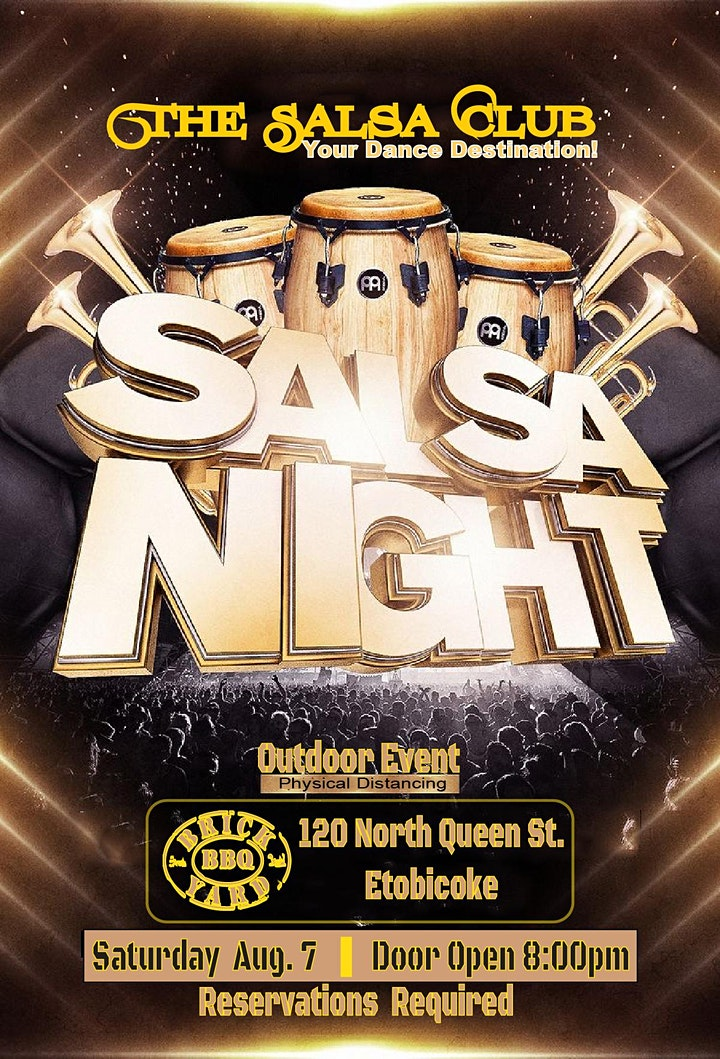 LATIN SALSA NIGHT PATIO PARTY IN TORONTO (Reservations Only) image