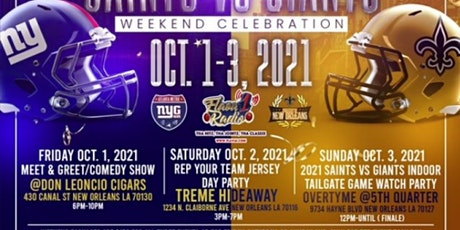 New York Giants & New Orleans Saints Party Weekend  - SUNDAY ONLY tickets