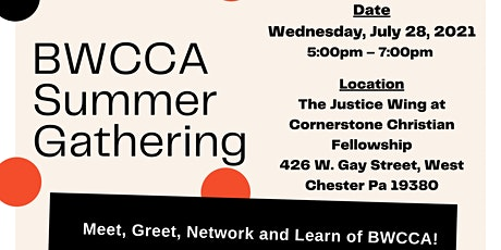 BWCCA Summer Gathering: Celebrating the Emergence from COVID tickets