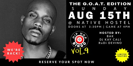 Hip Hop Bingo Vol.9 - The G.O.A.T. Edition tickets