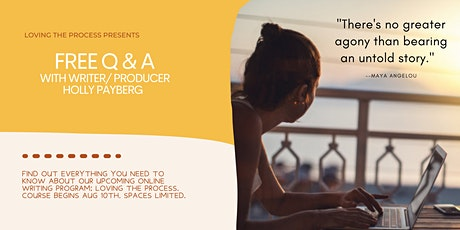 Free Q & A with Writer/Producer Holly Payberg tickets