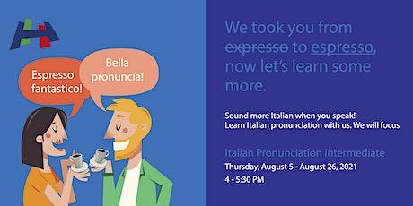 Italian Pronunciation for Intermediate Level tickets