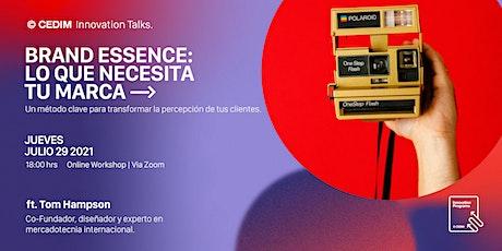 Workshop | Brand Essence: Lo que necesita tu marca | Tom Hampson ingressos