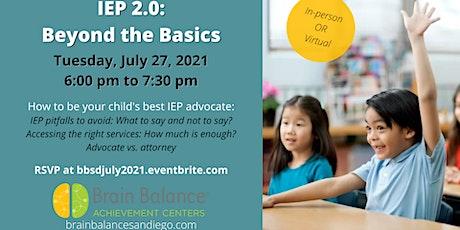 IEP 2.0: Beyond the Basics Tickets