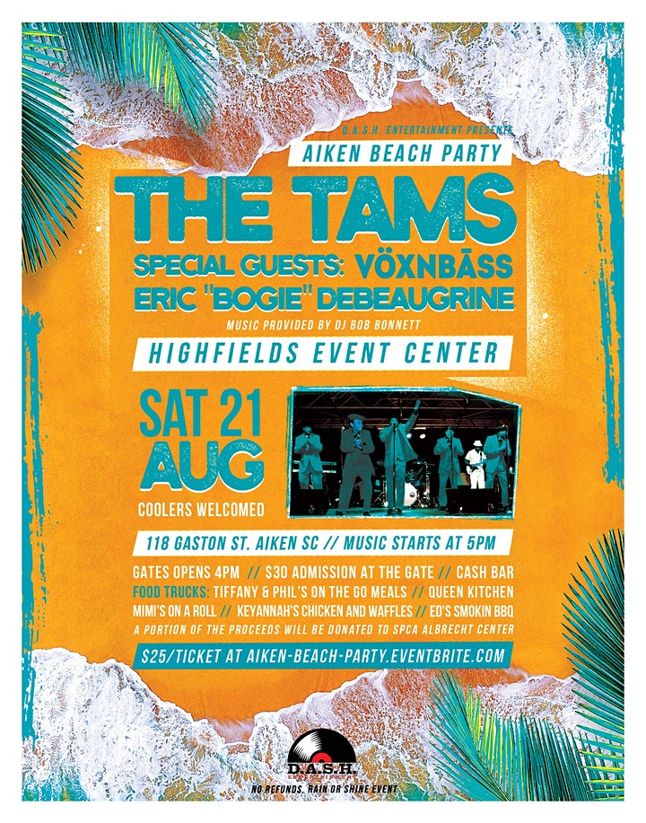 Aiken Beach Party featuring: The Tams image