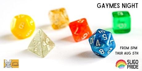 Gaymes Night tickets