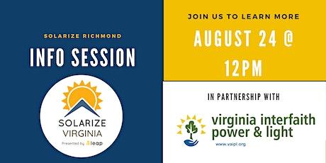 Solarize Richmond Info Session tickets