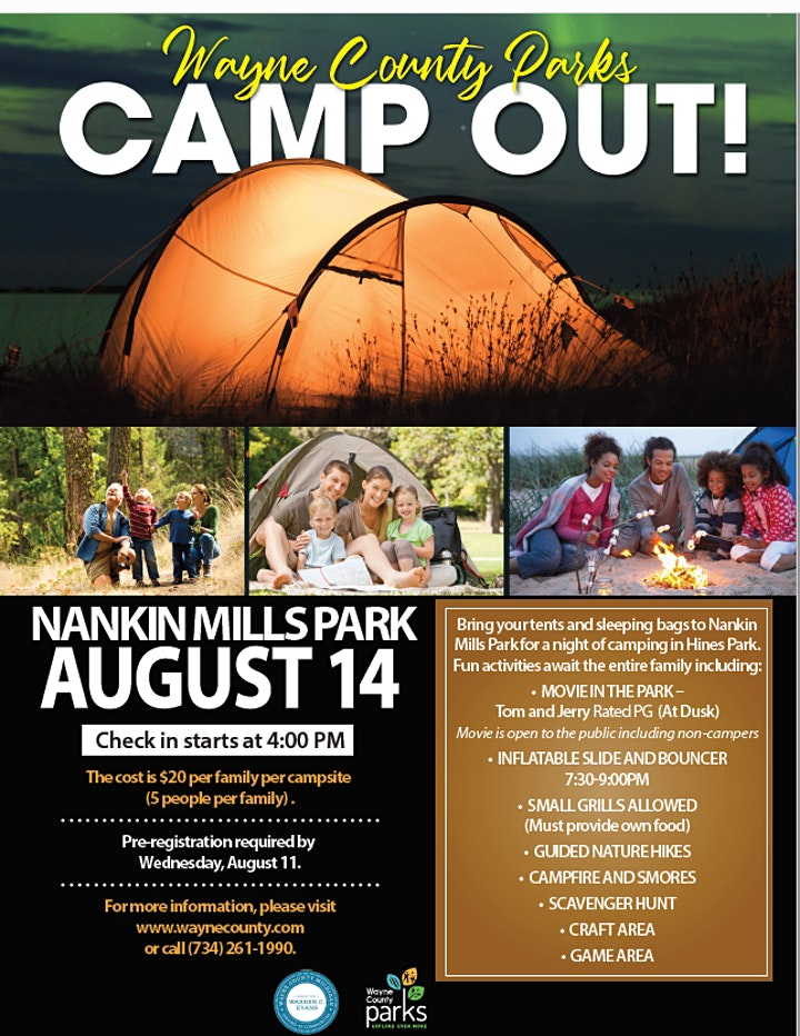 Wayne County Parks Camp Out! image