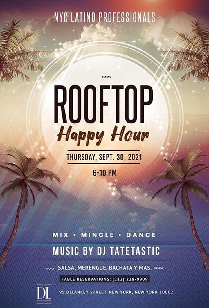 NYC Latino Professional Rooftop Happy Hour image
