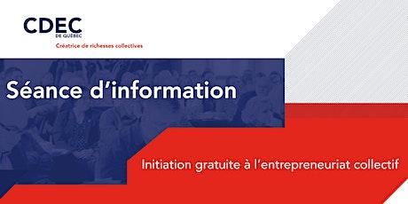 Initiation à l'entrepreneuriat collectif billets