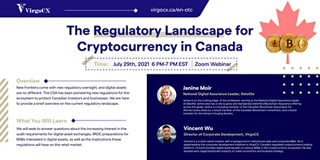 The Regulatory Landscape for Cryptocurrency in Canada tickets