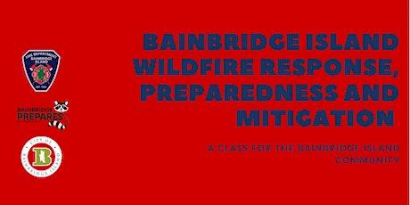 Wildfire Response Plan, Preparedness & Mitigation Measures tickets