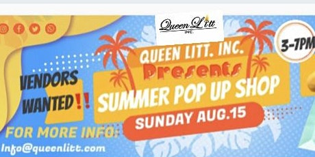 VENDORS WANTED FOR A POP UP SHOP tickets