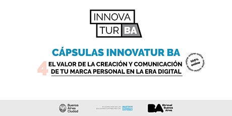 Cápsulas InnovaTur:El valor de la creación y comunicación de tu marca boletos