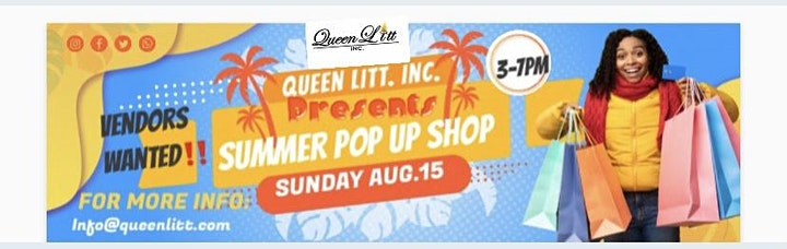 VENDORS WANTED FOR A POP UP SHOP image