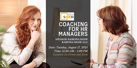 COACHING FOR HR MANAGERS tickets