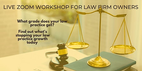 Live on Zoom: Law Firm Owners guide to boosting productivity tickets