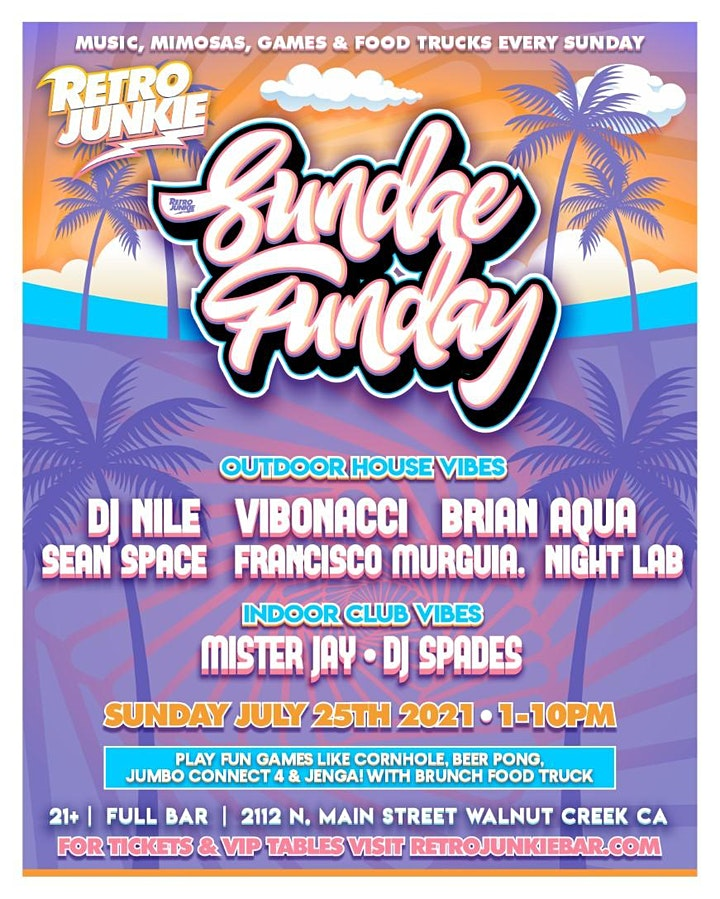 Sundae Funday - Food, Games, Music and Mimosas with live DJs! image