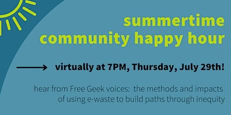 Free Geek Summer Happy Hour tickets