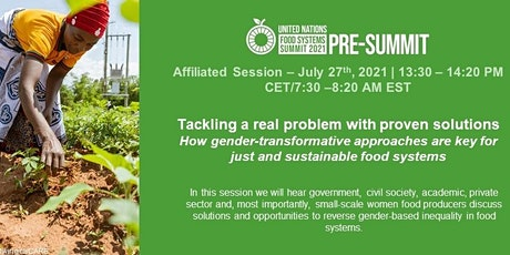 Gender-Transformative Approaches for Just and Sustainable Food Systems tickets