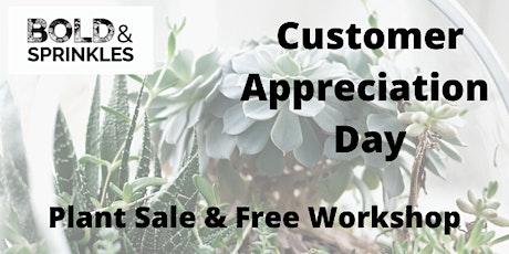 Sips & Succs Workshop and Customer Appreciation Event tickets
