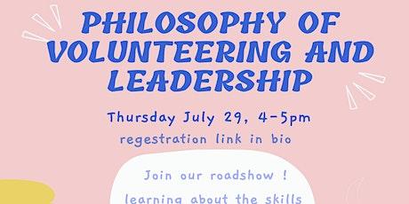 Online Roadshow: The Philosophy of Volunteering & Leadership tickets
