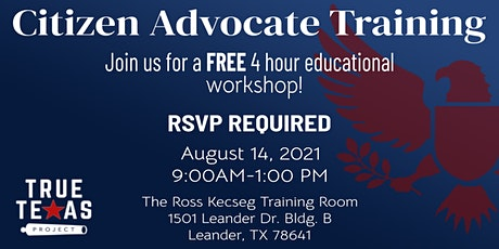 True Texas Project Citizen Advocate Training - Central Texas tickets