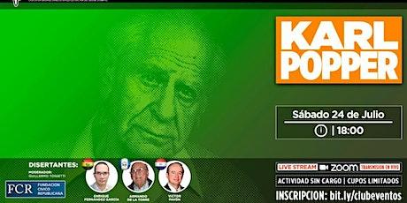 Homenaje a Karl Popper . Sábado 24 de Julio,18 horas. entradas