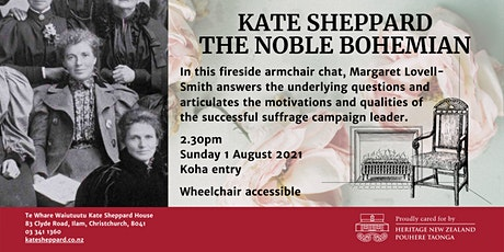 Fireside chat: Kate Sheppard - The noble bohemian tickets