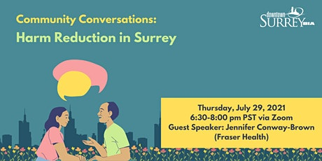 Community Conversations: Harm Reduction in Surrey tickets