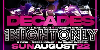 Decades Presents: One Night Only Hair and Fashion Show