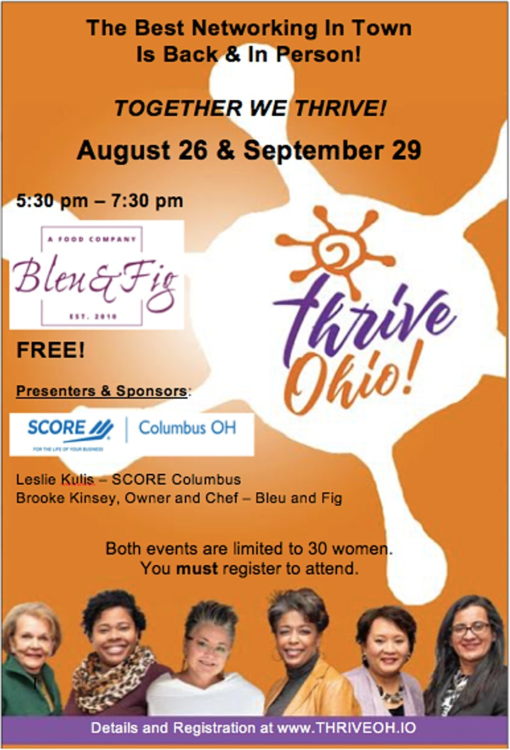 SOLD OUT! Thrive Ohio Networking Event for Women Business Owners image