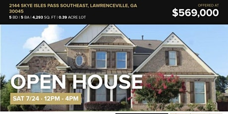 Open House Lawrenceville, Ga tickets