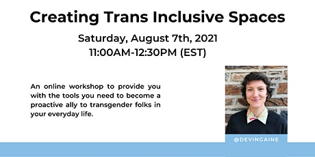 Creating Trans Inclusive Spaces, Workshop 2 tickets