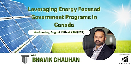 Leveraging Energy Focused Government Programs in Canada tickets