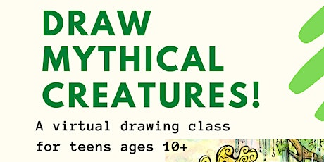 Teen Virtual Drawing Class: Mythical Creatures tickets