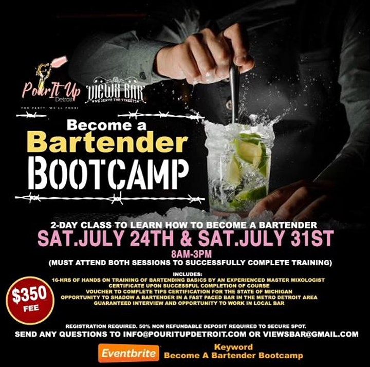 Become a Bartender Bootcamp image