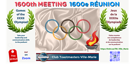 Club Toastmasters Ville-Marie (rencontre hebdomadaire) billets