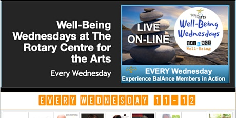 BalAnce Well-Being Wednesdays (Rotary Centre for the Arts) tickets